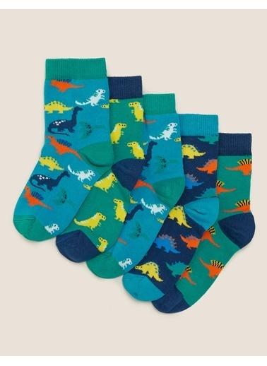 Marks & Spencer 5'li Dinozor Çorap Seti Renkli